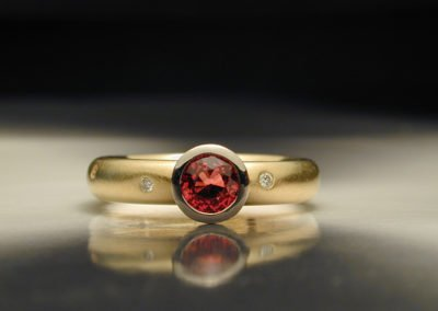 unique anniversary ring gold ruby