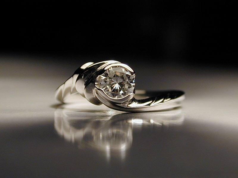 Personalized Wedding Rings Unique Diamond Engagement Ring Water