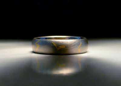 unique mens wedding ring inlaid