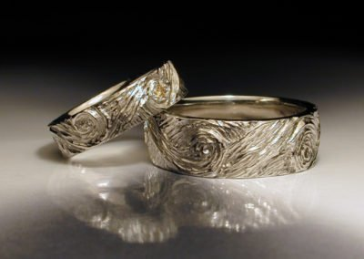 unique wedding rings van gogh stary night