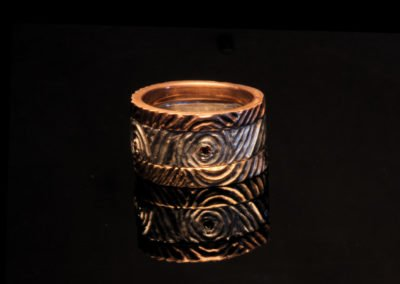 unique womens wedding ring carved