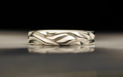 A more affordable white metal for your wedding rings.