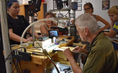 Stone setting workshop at the Creative Side Jewelry Academy