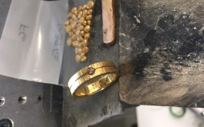 Fabricating a new gold wedding ring