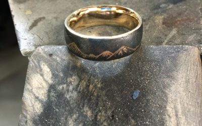 A very special mountain wedding ring
