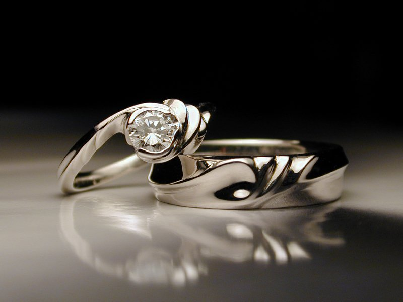 Unique Platinum Wedding Rings Water